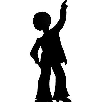 Disco Dancer (Party Prop) - LifeSize pahvi Leikkaus / seisoja