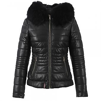 Oakwood Oakwood Jelly Cuir Mouton Downtown Womens Quilted Jacket