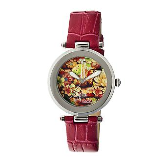Sophie & Freda Kew Leather-Band Ladies Watch - Red