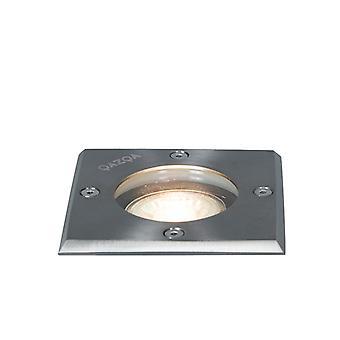 QAZQA Ground spot acier 10.5 cm IP65 inclinable - Square de base