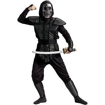 Skelett Ninja kostym (tonåring / barn)