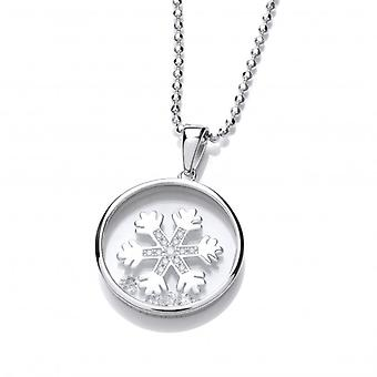 Cavendish French Celestial Silver and CZ Snowflake Pendant Without Chain