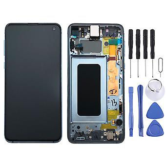 Дисплей Samsung LCD полный набор GH82-18852 C Призма голубой / синий для галактики S10e 5,8-дюймовый G970F