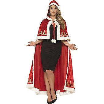 Boże Narodzenie żona Cape deluxe kobieta Nikolaus Santa Cape Panie