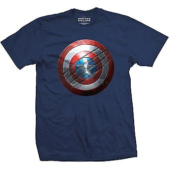 Men's Kapitan Ameryka: Wojna domowa Clawed Shield T-Shirt