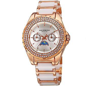 Akribos XXIV quarzo opaco quadrante bracciale orologio AK961RGWT