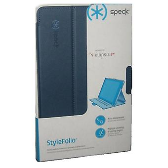Speck StyleFolio Leather Case for Verizon Ellipsis 8 HD - Marine Blue