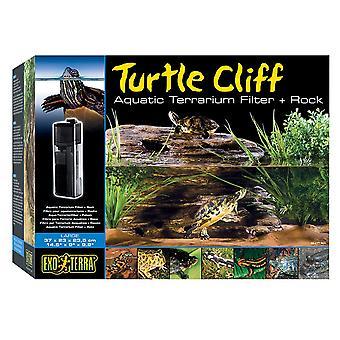 Exo Terra Turtle Cliff & Filter - Medium
