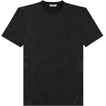 Versace Collection Gold Studded T-Shirt Black