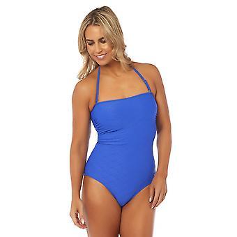 Seaspray SY007777 Women's Ceto Blue Costume One Piece Long Length Bandeau Swimsuit