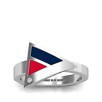 Colombus chaquetas azules anillo de diamantes en diseño de plata de ley por BIXLER