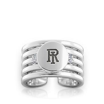 University of Rhode Island Diamond Ring i Sterling Silver design af BIXLER