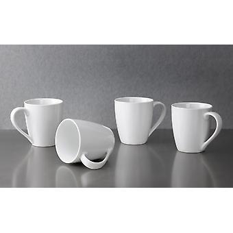 Portmeirion Studio weiß Coupe Tassen Set von 4