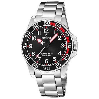 Festina | Womens/Junior's Stainless Steel Bracelet | Black Dial | F20459/3 Watch