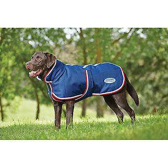 Weatherbeeta Parka 1200d 220g Belly Flap Dog Rug - Navy/red/white