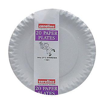 Caroline White Paper Plates - 18cm (Pack Of 240)