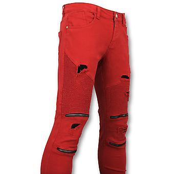 Red Trousers - Biker Jeans - U157