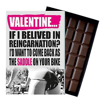 女性サイクリストバイクライダー失礼現在のチョコレートカードIYF173のための面白い誕生日の贈り物