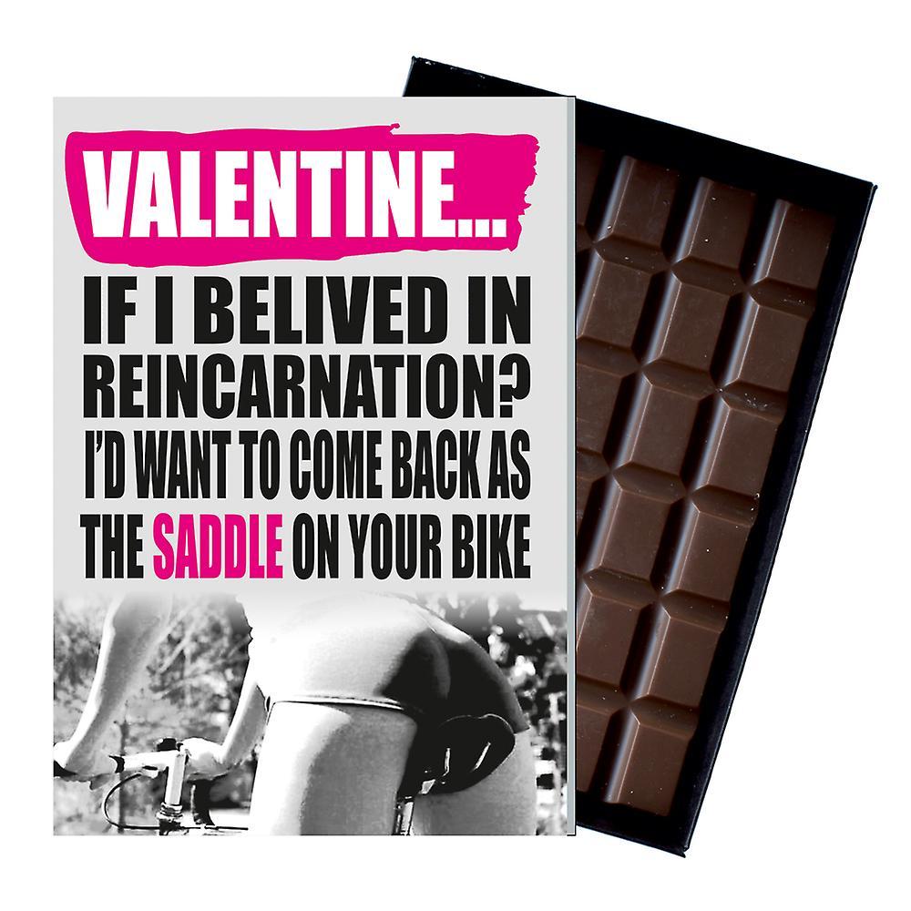 Funny Birthday Gift For Women Cyclist Bike Rider Rude Present Chocolate Card IYF173