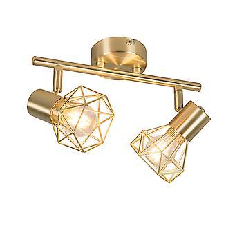 QAZQA Art Deco Ajustável Spotlight Brass - Mosh 2