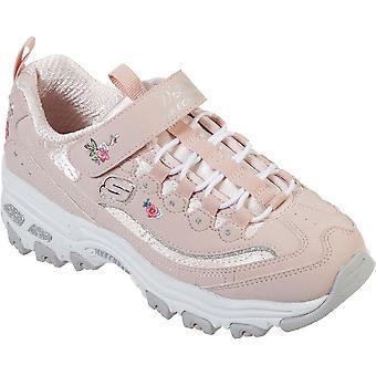 سكيتشرز بنات D'Lites-ليل زهر التطريز أحذية رياضية