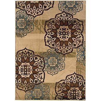 Hudson 2797c beige/blue floral area rug (5'3