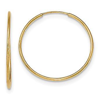 1,2mm 10k ouro amarelo polido brincos de argola de aro para mulheres