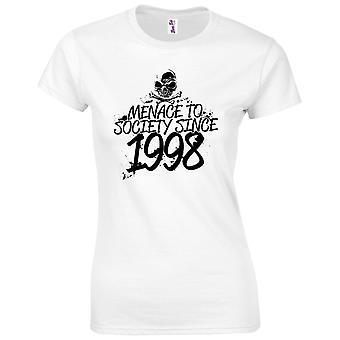 21 års fødselsdag gaver til kvinder hendes trussel mod samfundet 1998 T-shirt