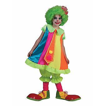 ネオン色の子供ピエロ衣装愚かなビリーガールサーカス子供衣装カーニバルの女の子