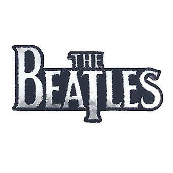 The Beatles patch Silver Drop T Band logo uusi virallinen valkoinen kirjailtu silitys rauta