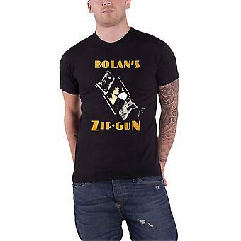 T Rex T Shirt Bolans Zip Gun Logo new Official Mens Black