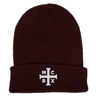 My Chemical Romance Beanie Hat MCRX Band Logo new Official Marroon
