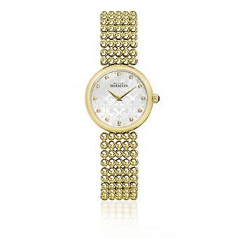 Michel Herbelin 17483-BP59 Ladies Gold Tone Perle Bracelet Wristwatch