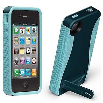 Case-Mate Pop! Case with Stand for Apple iPhone 4S / 4 (Navy/Aqua)