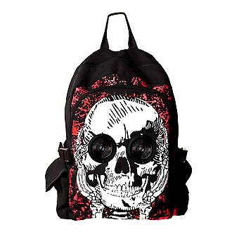 Banned Skull Backpack With Built In Speakers