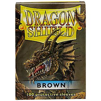 Dragon Shield 100 Mangas protetoras do convés Brown (pacote de 10)