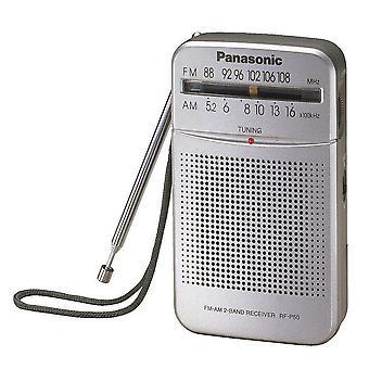 Panasonic Portable AM/FM Radio - Srebrny (nr modelu RFP50DEG-S)