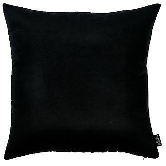 Set of 2 Black Brushed Twill Decorative Throw Pillow Covers