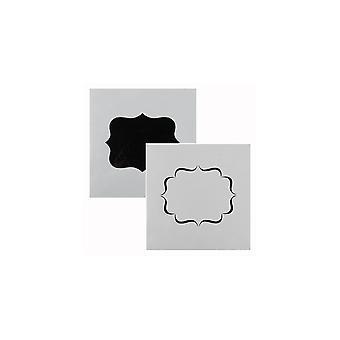 Kuchen Stern Plaque Schablone - 2 Designs