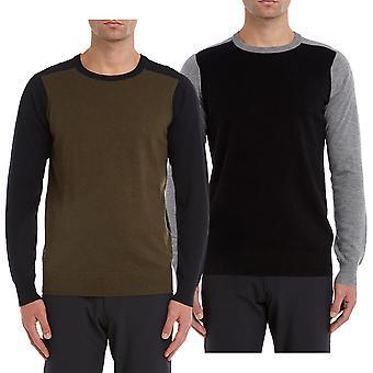 Wolsey Mens Colour Block Lightweight Merino Wool Golf Sweater