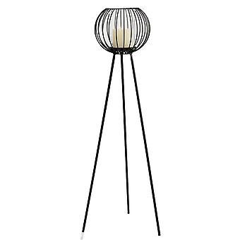 Floor lantern black Forging 81 cm