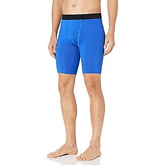 Hanes Men's Sport Performance Compression Short,, Awesome Blue/Ebony, Size Small