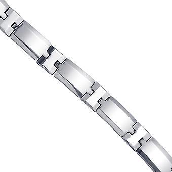 טונגסטן Mens קשר צמיד מלוטש 12mm 8.5 תכשיטים אינץ מתנות לגברים
