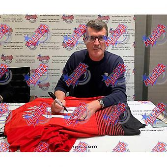 Manchester United Keane signert skjorte (innrammet)