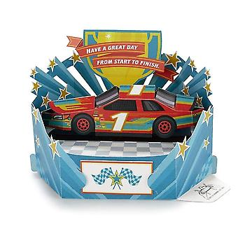 Hallmark Paper Wonder Race Car Pop Up 3d Birthday Card 25522167