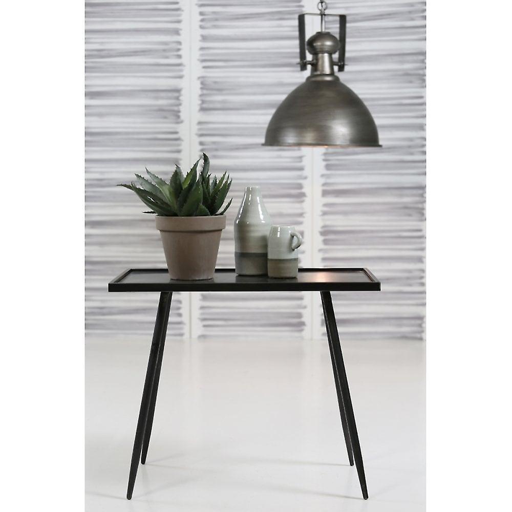 Table latérale légère et vivante 60x35x50cm Envira Zinc