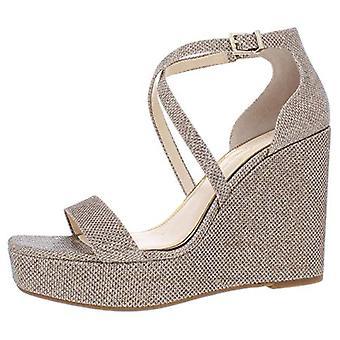Jessica Simpson mujer Samira Shimmer tobillo correa sandalias de noche