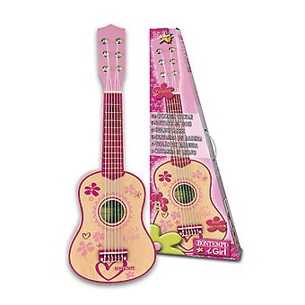 Bontempi iGirl Classical Wooden Guitar 6 String 55cm Pink
