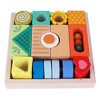 Classic World - Exploration Blocks Wooden Building Blocks Puzzle Sorting and Stacking