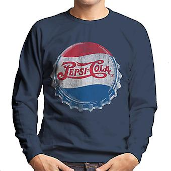 Pepsi Cola 1945 Style Distressed Bottlecap Men's Sweatshirt